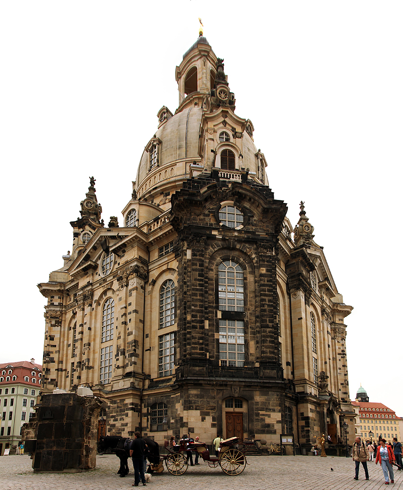 dresden and the frauenkirche remote angles of a digital. Black Bedroom Furniture Sets. Home Design Ideas