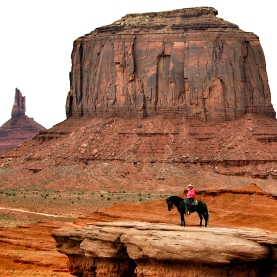 Visiting Monument Valley.