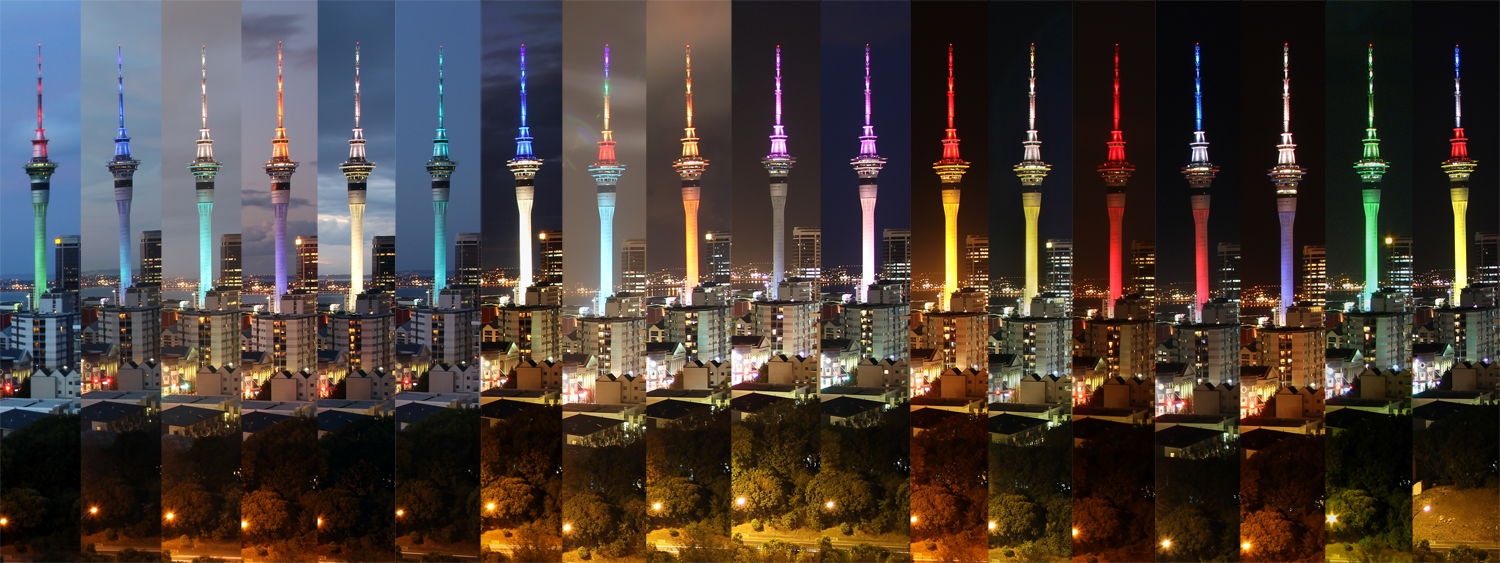 Auckland Sky Tower Colours | travel photography and social ...