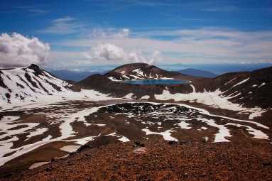 tongariro new zealand blue lake