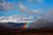 tongariro new zealand rainbow