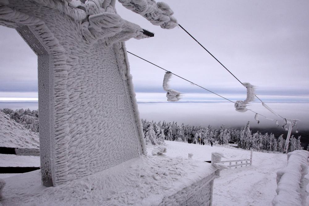 Fichtelberg ski lift Germany