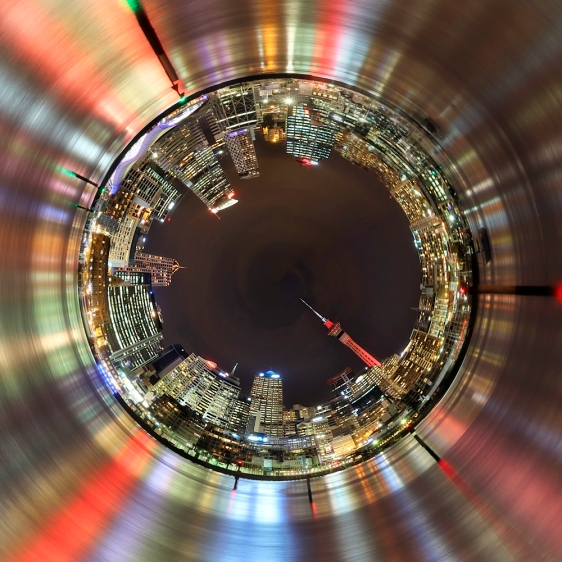 Tiny world of Auckland edited in Rollworld