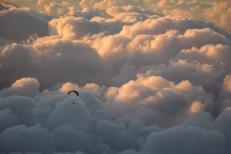 paragliding tenerife sunset