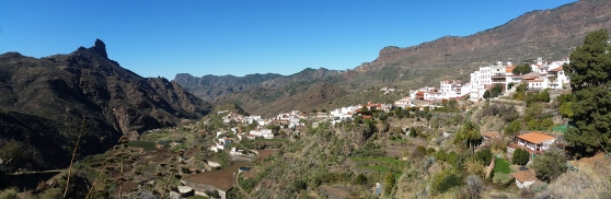 The view along the road on our way to Artenara, Gran Canaria.