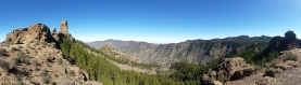 Panorama of the hike up to Roque Nublo in Gran Canaria.